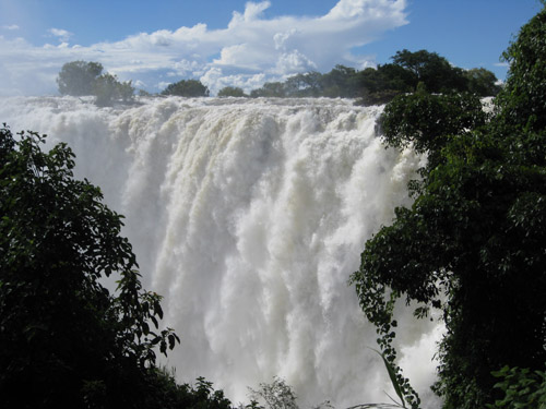 Waterfall in Africa.