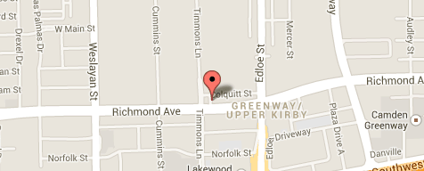 Map for Greenway Plaza clinic in Houston