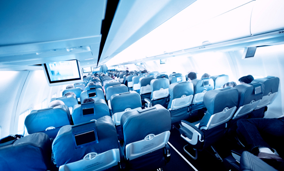 Inside an Airplane Cabin