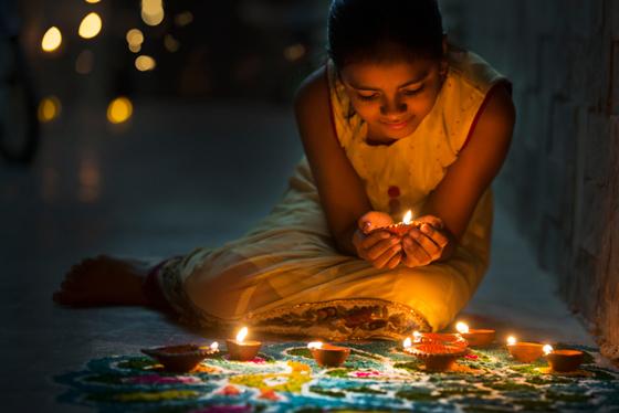 Girl Celebrating Diwali
