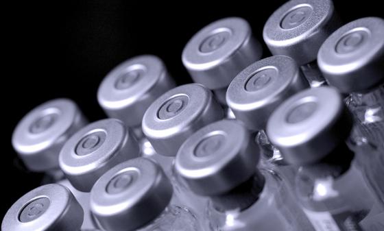 Gray Vaccine Vials