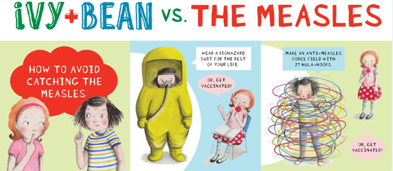 Ivy bean vs the measles - How to avoid catching the measles
