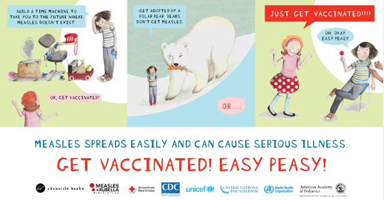 Ivy bean vs the measles - Get vaccinated