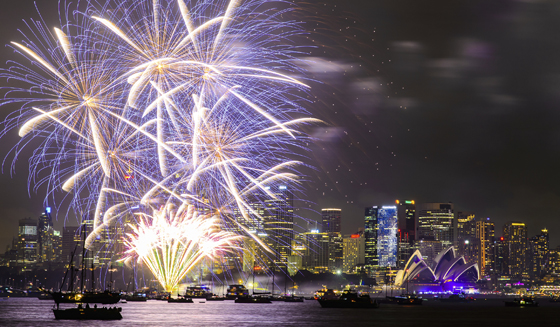 New Year's Eve Fireworks Celebration in Sydney, Australia