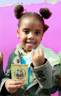 Little Girl with Immunization Record - Shot@Life