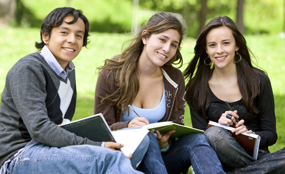 college students studying