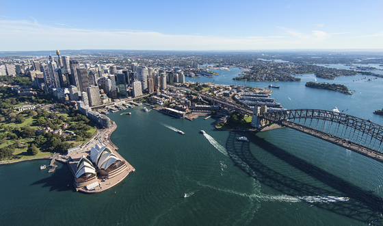Sydney, Australia aerial view