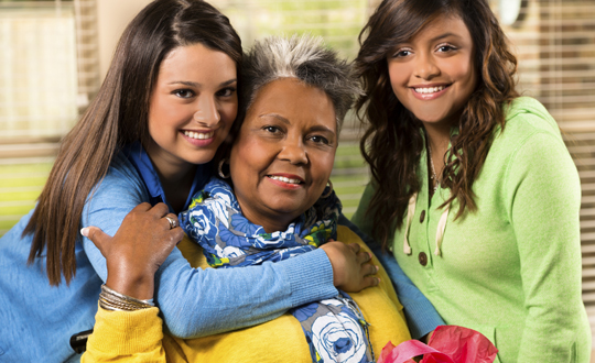 three women of different ages