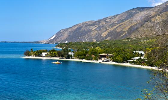 Coastline in Ouest Province, Haiti