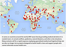 Image Courtesy Of MSF Click Here To View The Interactive Map Countries Organization Operates In