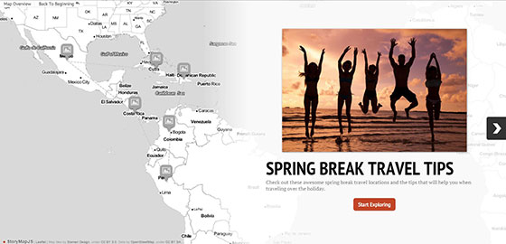 Spring Break StoryMap