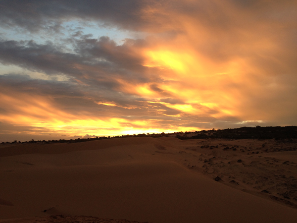 Photo by Drew Zambrotta - Sunset at Red Sands Dunes, Mui Ne, Vietnam
