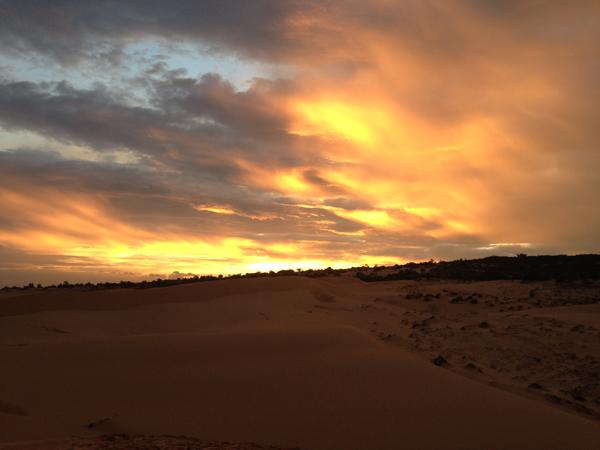 Photo by Drew Zambrotta - Sunset at Red Sands Dunes, Mui Ne, Vietnam