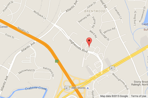 Passport Health Raleigh Map (Highwoods Blvd)