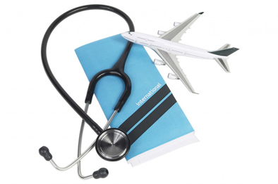 image of plane with stethoscope
