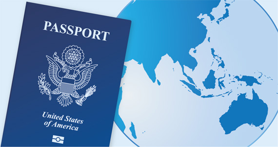 passport and globe - register your trip