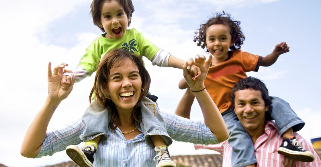 Happy Latin Family