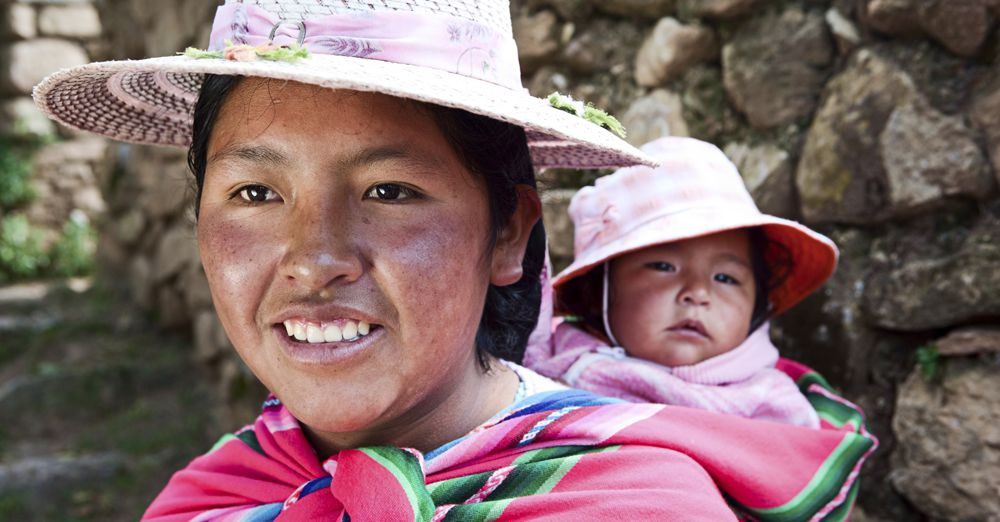 Bolivian Woman with Baby