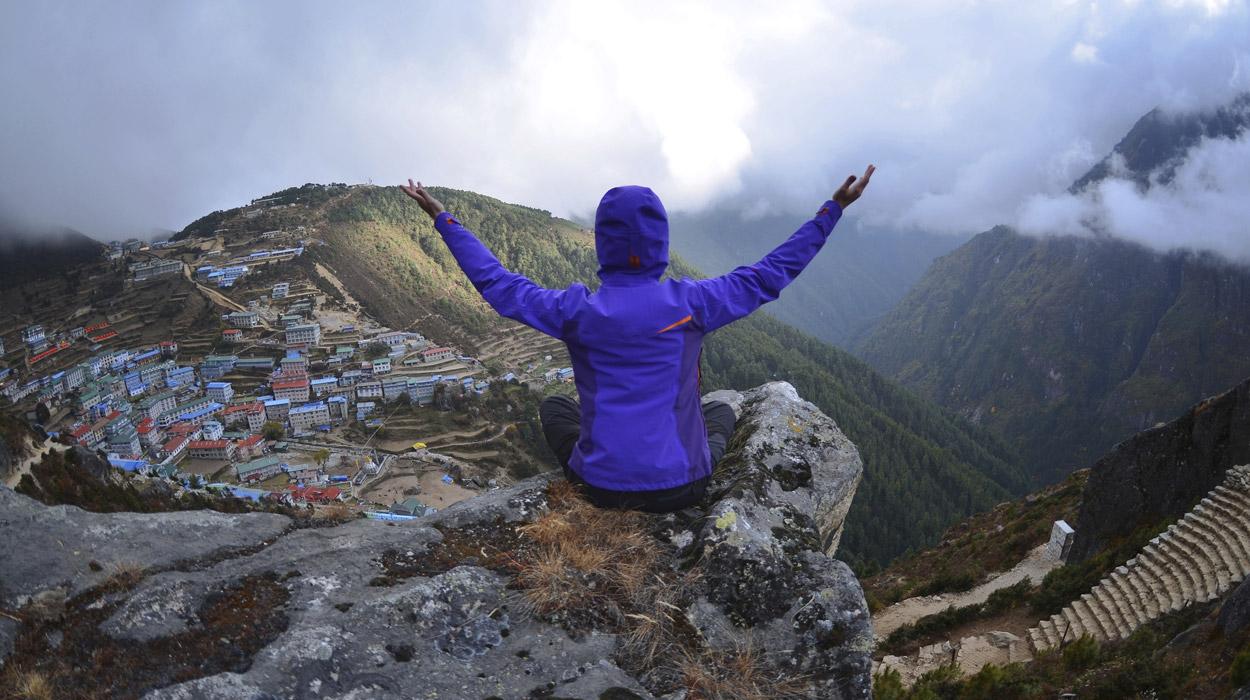 Traveler in Nepal