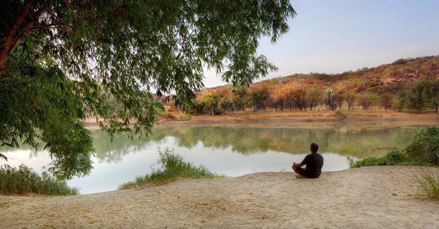 Meditating On The Shore