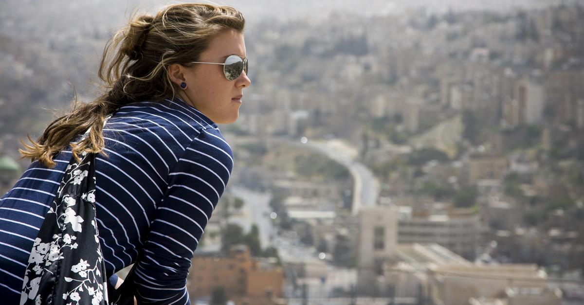 Traveler in Jordan