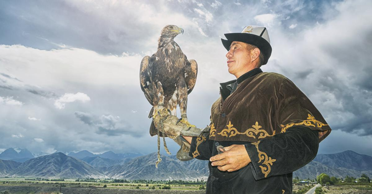 Traditional Man With Eagle