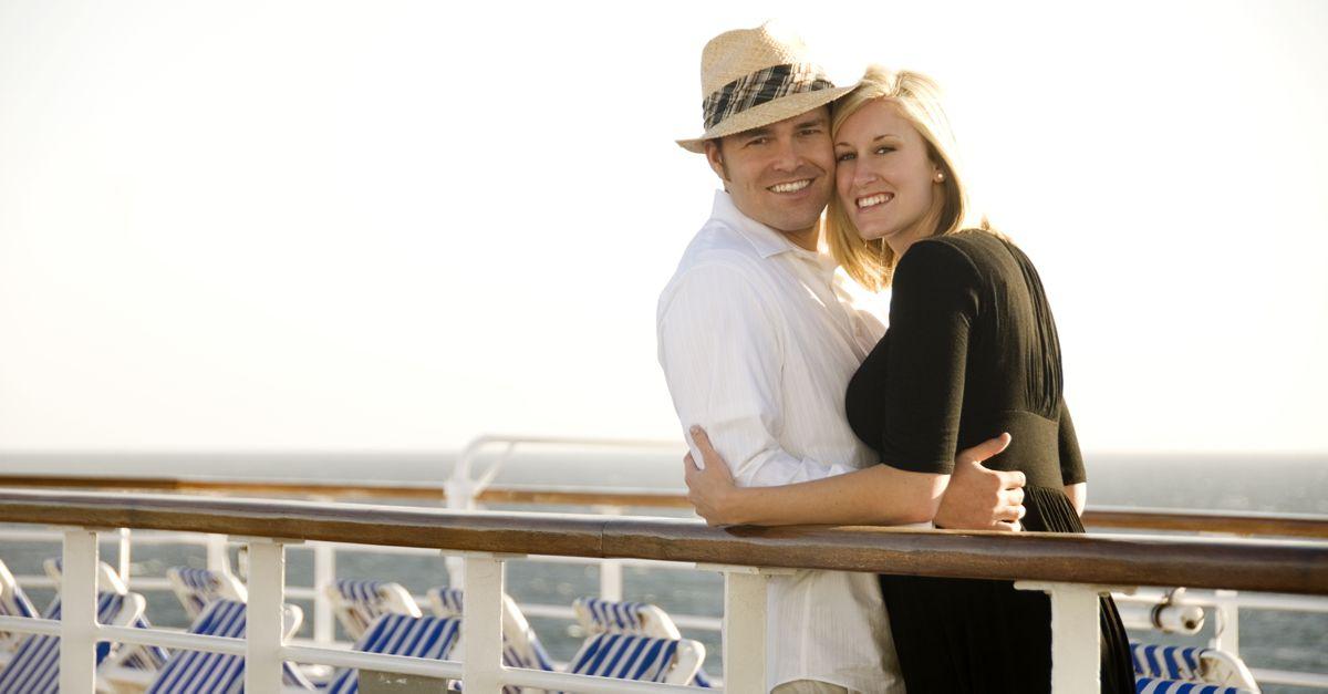 Couple On Cruise Ship