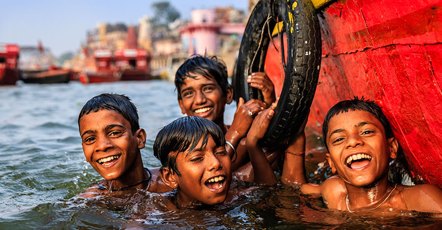 The Ganges River is just one of the places you can go in India. Just don't forget your typhoid and hepatitis A vaccinations as both diseases are common in the area.