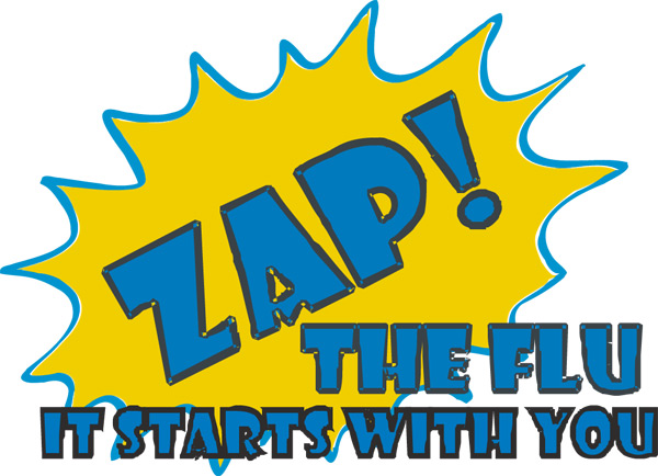 ZAP! the FLU logo