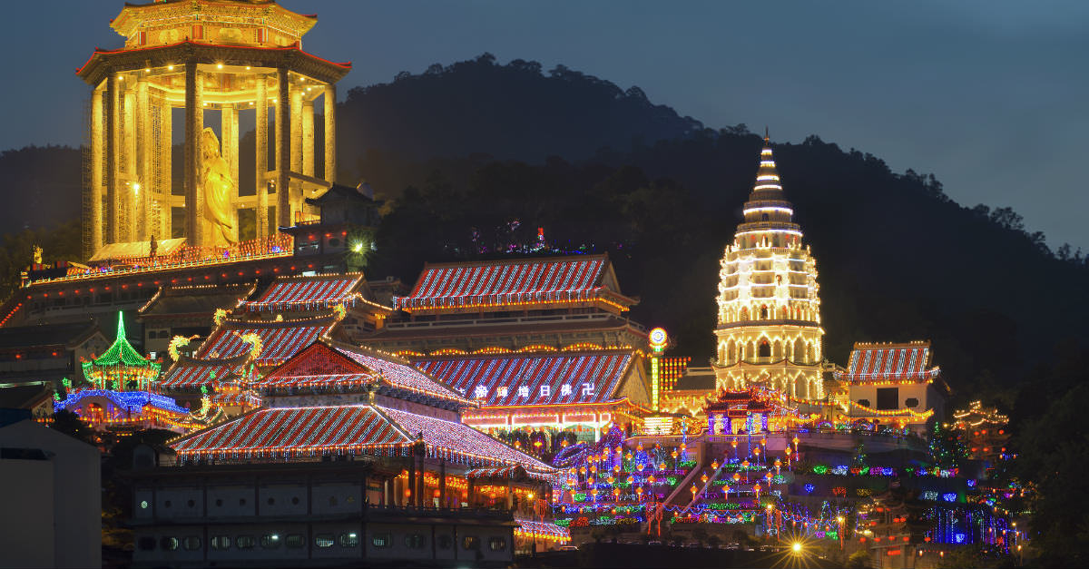 Malaysians often spend the holiday paying respects in ancient temples.