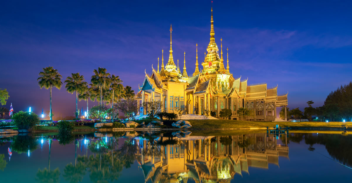 Many visit Thailand for the vast farms and ancient temples throughout the country's central areas.