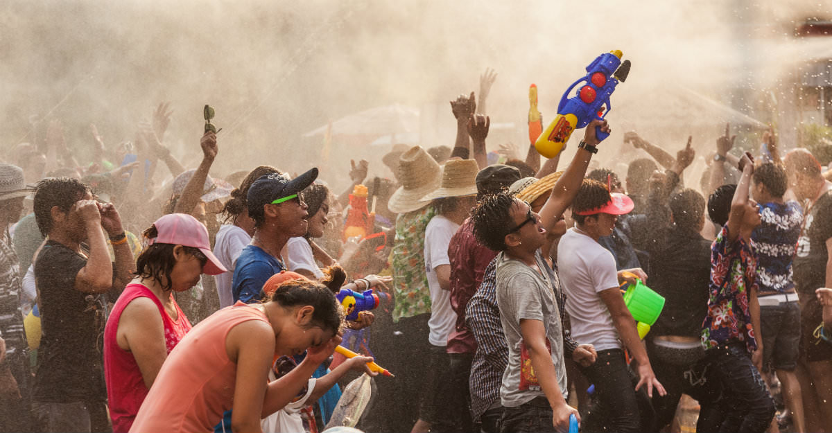 Thai locals love festival like Songkran and won't hesitate to include tourists in the fun.