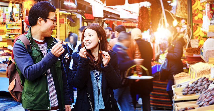 Typhoid is a common threat if you plan on partaking in some of the amazing street food.
