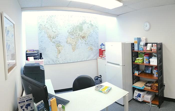Passport Health's Alexandria consult room.
