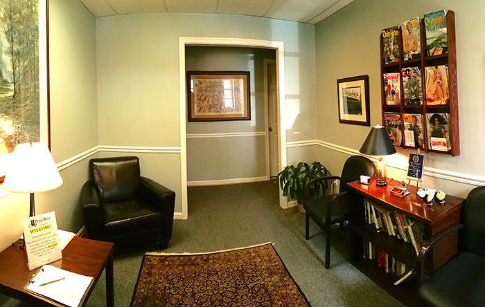 Passport Health's Alexandria waiting room will help you feel comfortable while you wait.