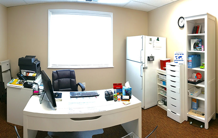 Passport Health's Bowie consult room is the perfect place to receive travel vaccines and advice.