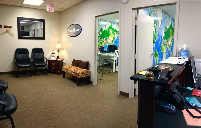 Passport Health's Silver Spring travel clinic is easy to find.