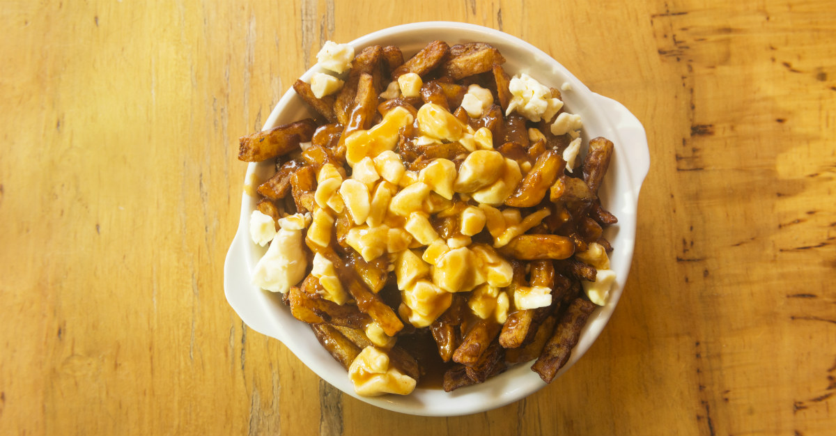 Montreal's world famous poutine is just one of the many delicious items available at the jazz festival.