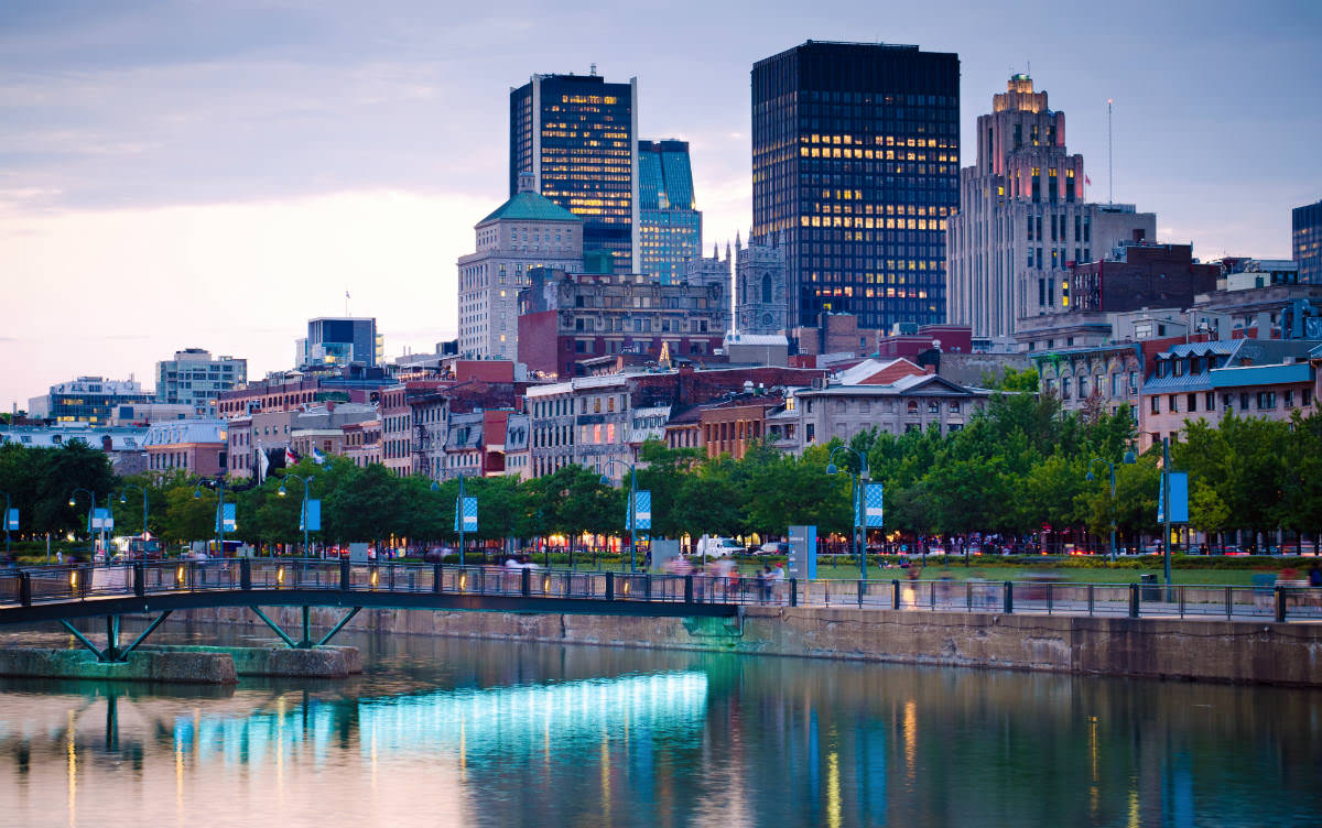 Areas like the Montreal Old Port come to life for the whole weekend during the grand prix.
