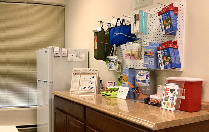 Passport Health's Silver Spring clinic has a wide variety of travel supplies.