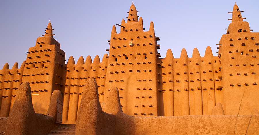 Mali's ancient ruins and constructions are a sight to behold.