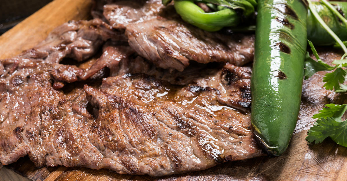 Citrus fruits make this steak dish special to Honduras.