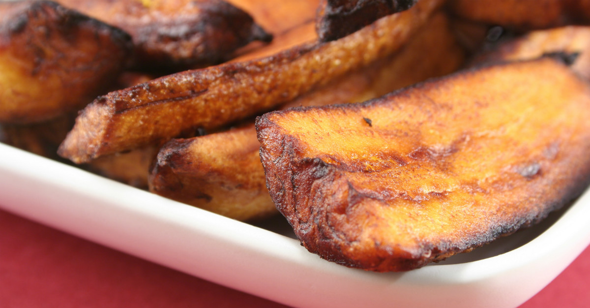 Another breakfast option, fried plantains are a popular starch throughout the region.