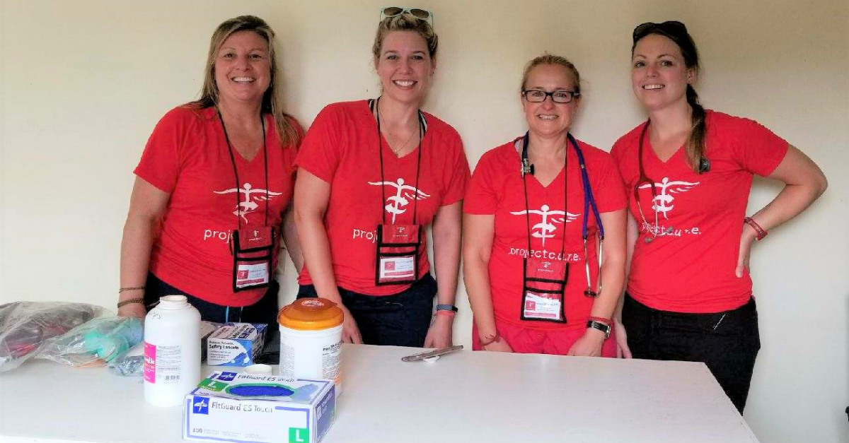 Nurses from Colorado and Project C.U.R.E. volunteers spend some time together.
