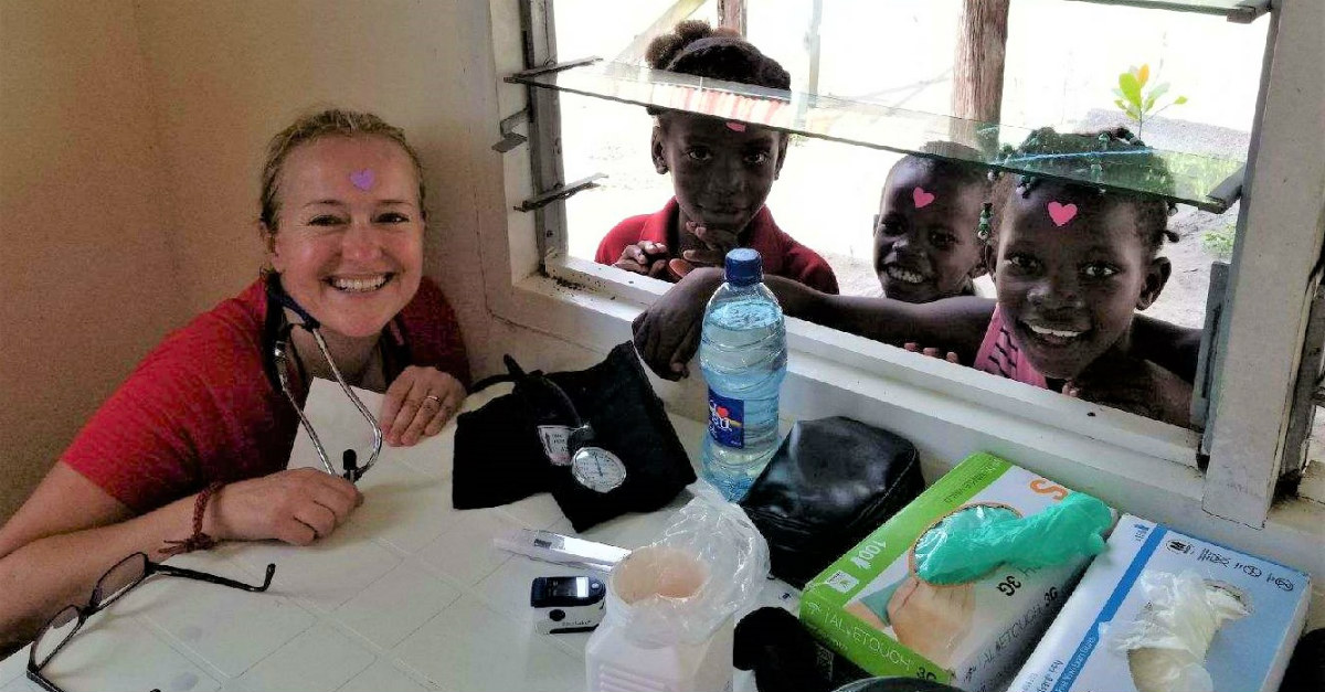 The nurses made sure to spend time with some of the local children.