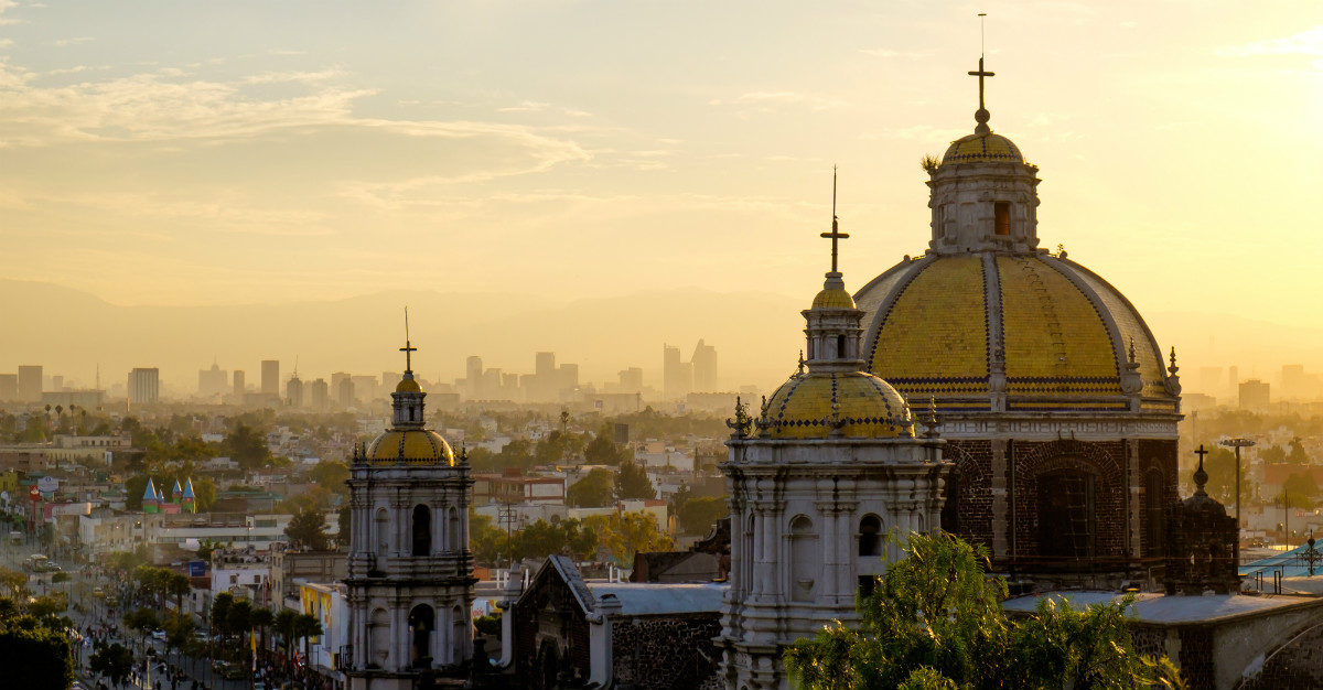 Mexico City may be higher in elevation, but still offers an escape from cold winters up north.