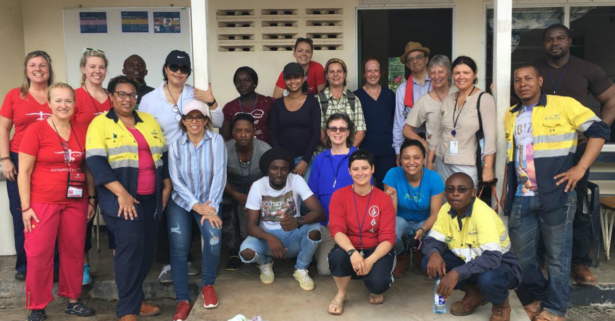 Nurses from Passport Health and volunteers with Project C.U.R.E. join in Suriname.