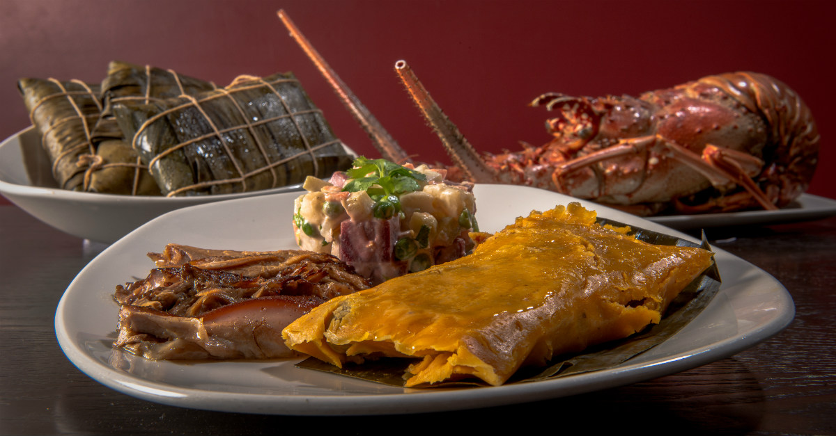 Similar to a tamale, the hallaca differs with the use of banana leaves.