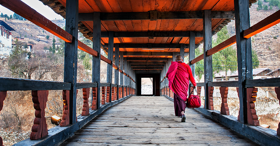 Nestled into the Himalayas, Bhutan is a fantastic destination.