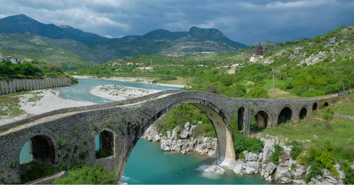 Albania creates a blend of many different European cultures.